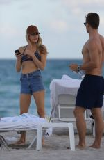 Kelly Thomas Enjoys the beach in Miami