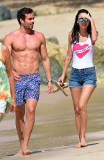 Lucy Watson Spotted on the beach in Barbados