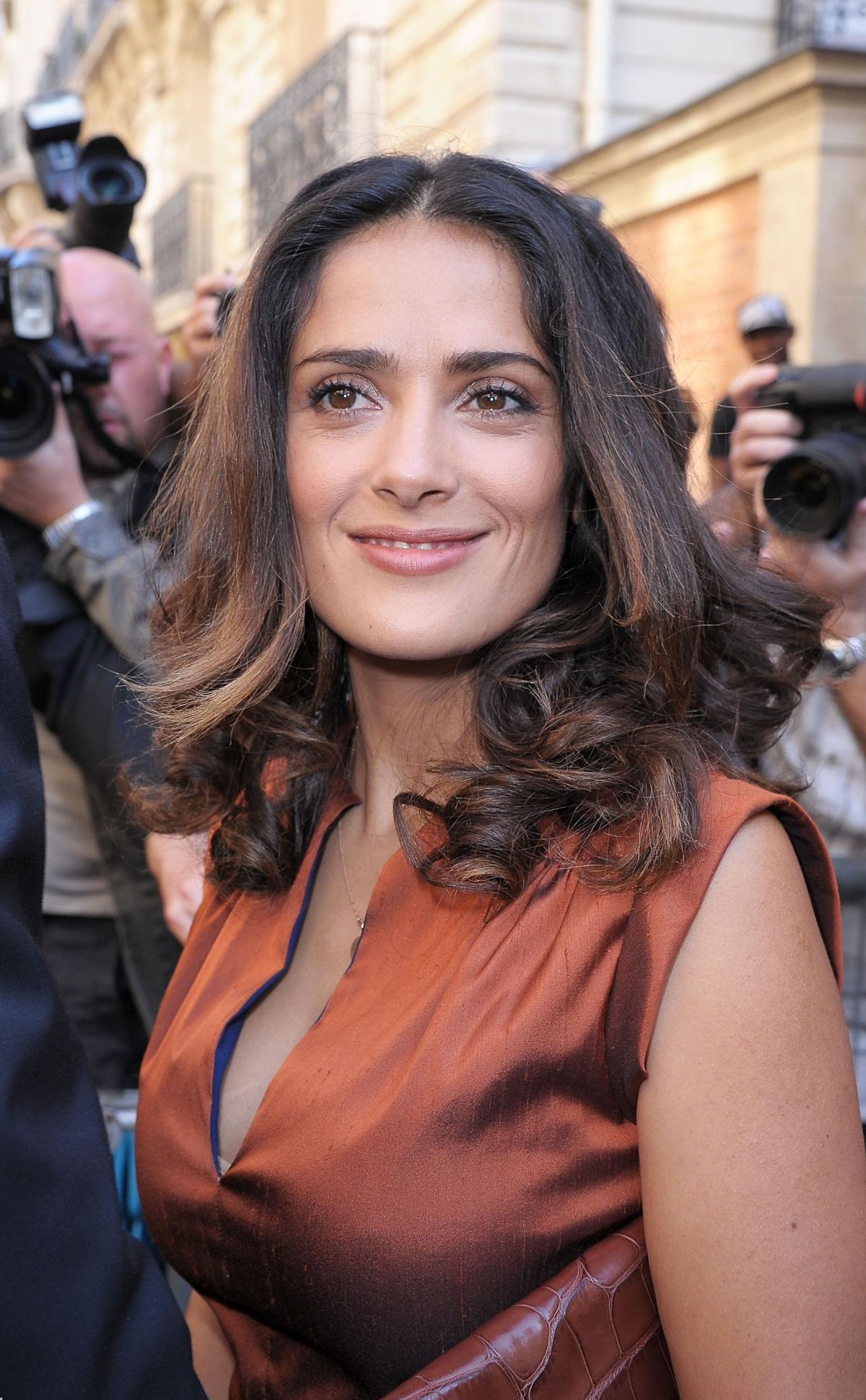 Salma Hayek Arrives For Balenciaga 2012 Fashion Show - Celebzz Salma Hayek