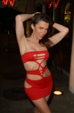 Alicia Arden Seen as she changes for a New Years Eve bash at the W Hotel, Hollywood