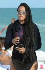 Angela Simmons At flaunts post baby body in Maimi