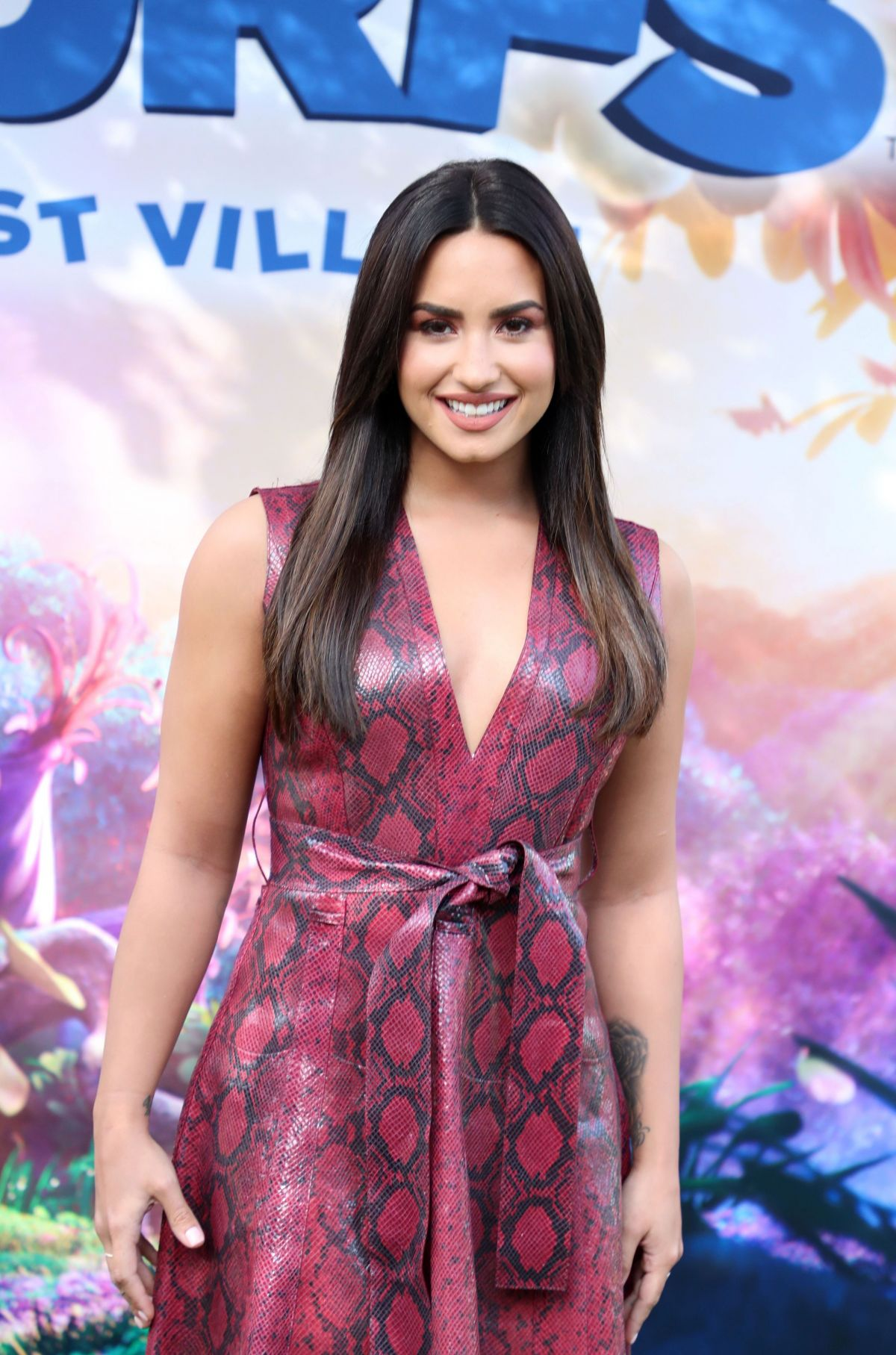 "Demi Lovato At ""Smurphs: The Lost Village"" Press Conference"