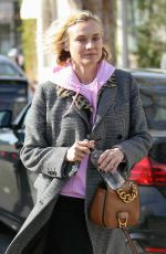Diane Kruger Finishes lunch by Alfred Coffee & Kitchen, West Hollywood