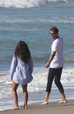 Georgia May Foote Upskirts on the beach in Malibu
