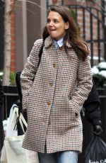 Katie Holmes Walks with her friend around Manhattan, New York