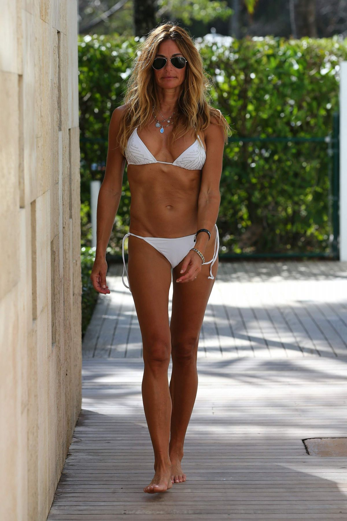 Kelly Bensimon in White Bikini in Miami Pic 4 of 35