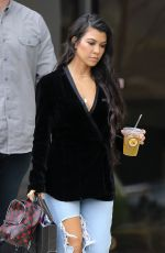 Kourtney Kardashian Heads to her car after filming some scenes for KUWTK in Calabasas