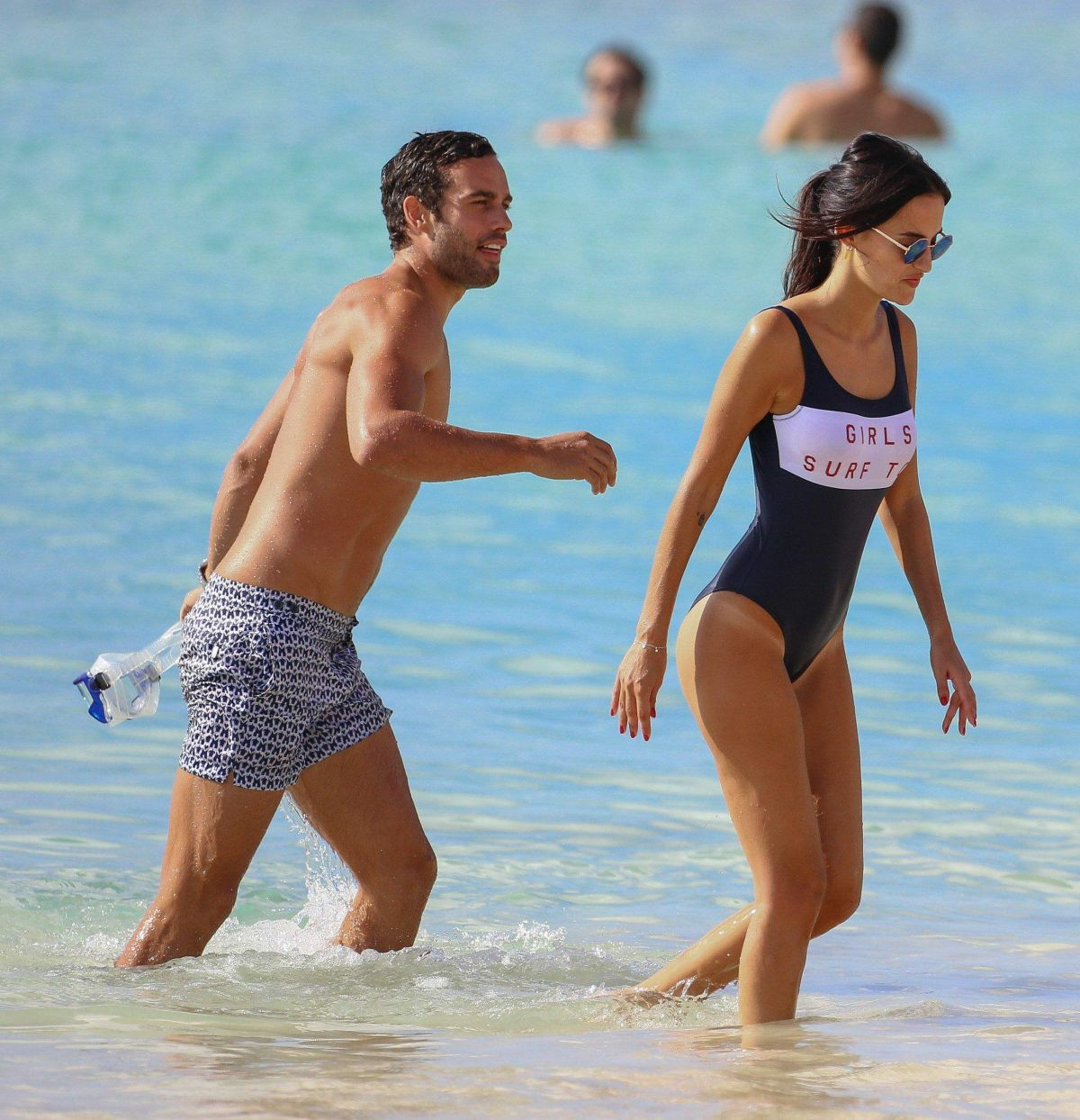 adc99062d56 Lucy Watson On the beach in Barbados - Celebzz