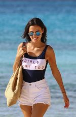 Lucy Watson On the beach in Barbados