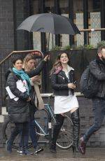 Barbara Palvin Out in East London