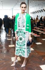 Camilla Belle At Tory Burch fashion show in NYC