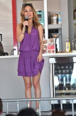 Giada de Laurentiis Gives a cooking demo on stage at goya foods grand tasting village in Miami