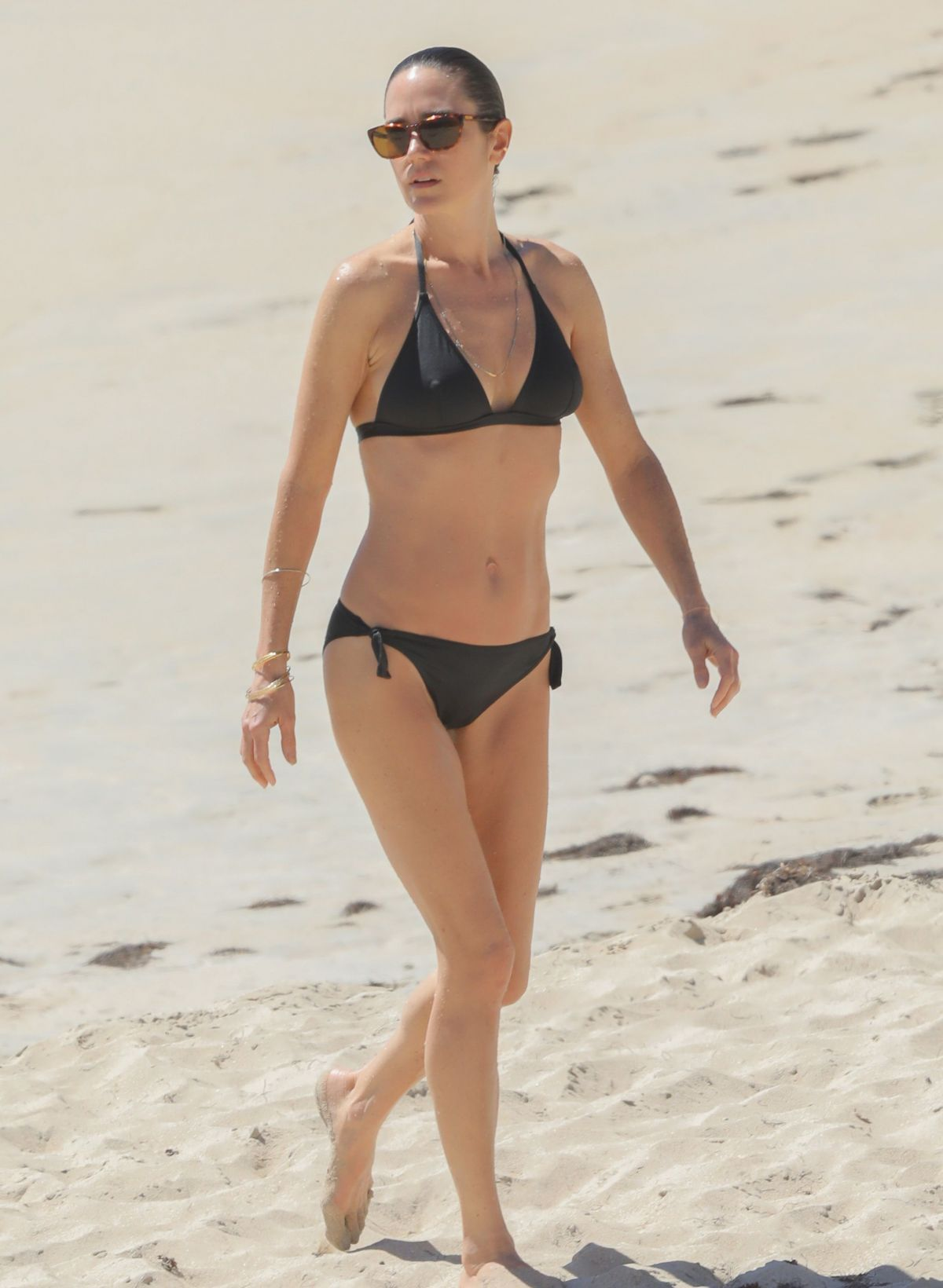 Jennifer Connelly At a beach in St Barts