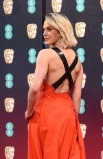 Jessica Brown Findlay At EE British Academy Film Awards in London