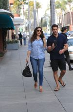 Kelly Brook With her boyfriend take selfies together in Beverly Hills