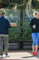 Miley Cyrus Outside Ollo Restaurant - Malibu