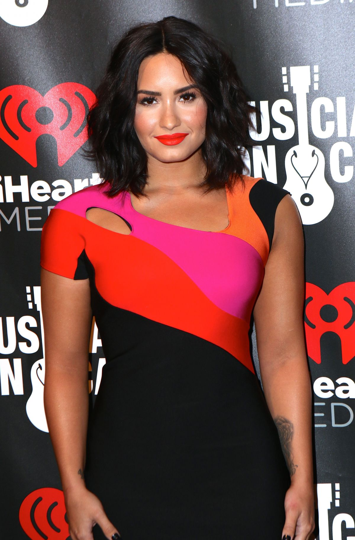 Demi Lovato At A Night To Celebrate Elvis Duran in NYC