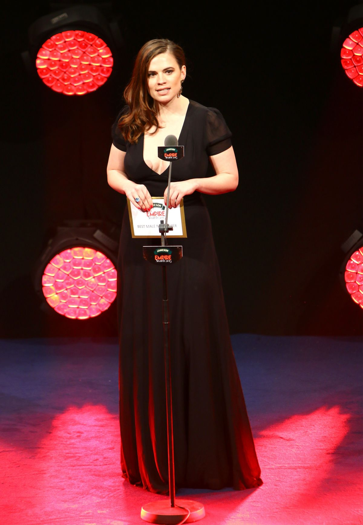 HAYLEY ATWELL at Jameson Empire Awards 2015 in London