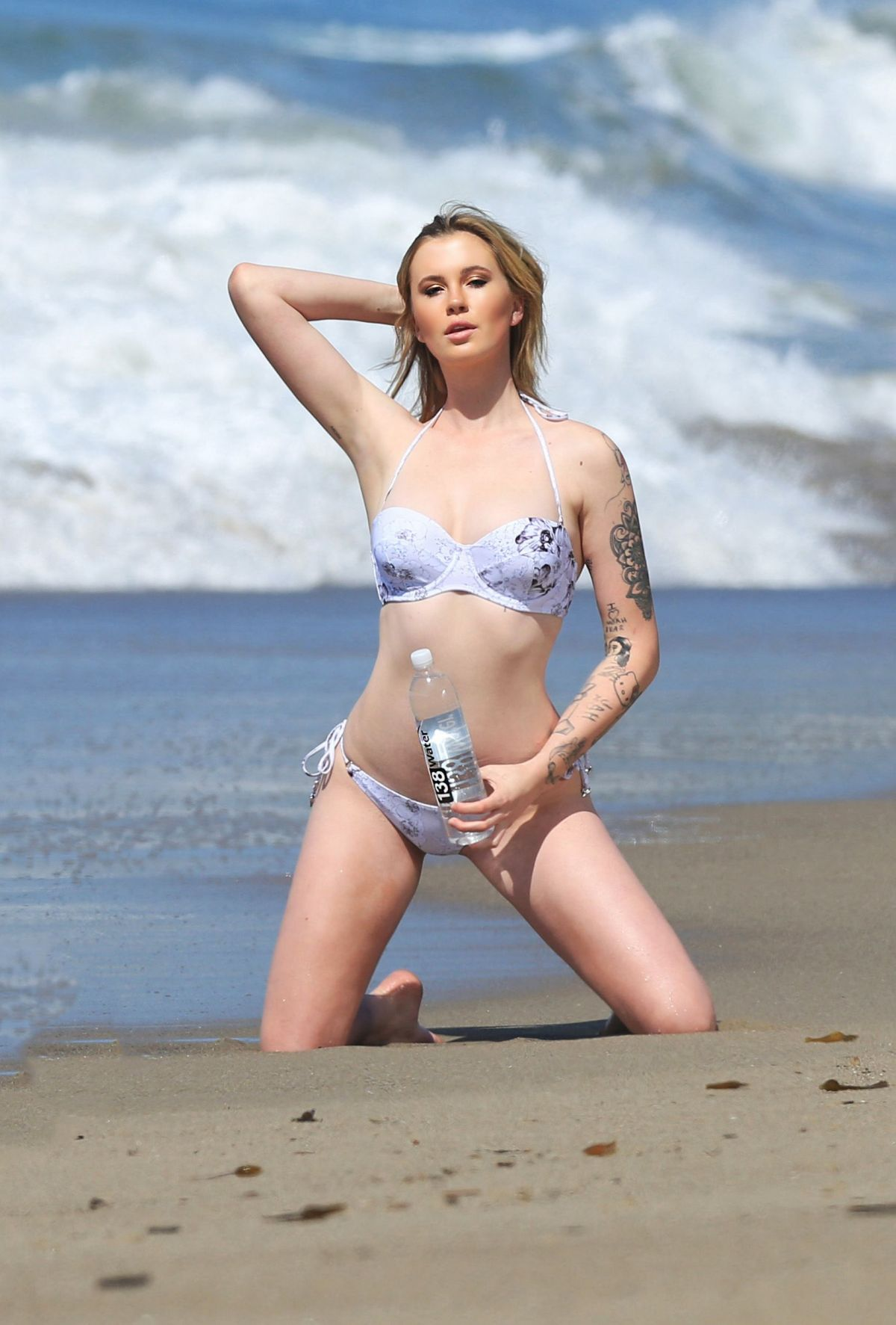 Ireland Baldwin On the set of a 138 Water photoshoot in
