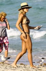 Kristin Reed At The Beach In Miami