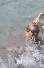Kristy Hinze On Vacation In St. Bart