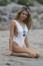 Louisa Warwick At photoshoot on the beach in Malibu