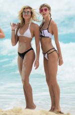 Rachel Hilbert & Devon Windsor In bikini on the beach in Cancun
