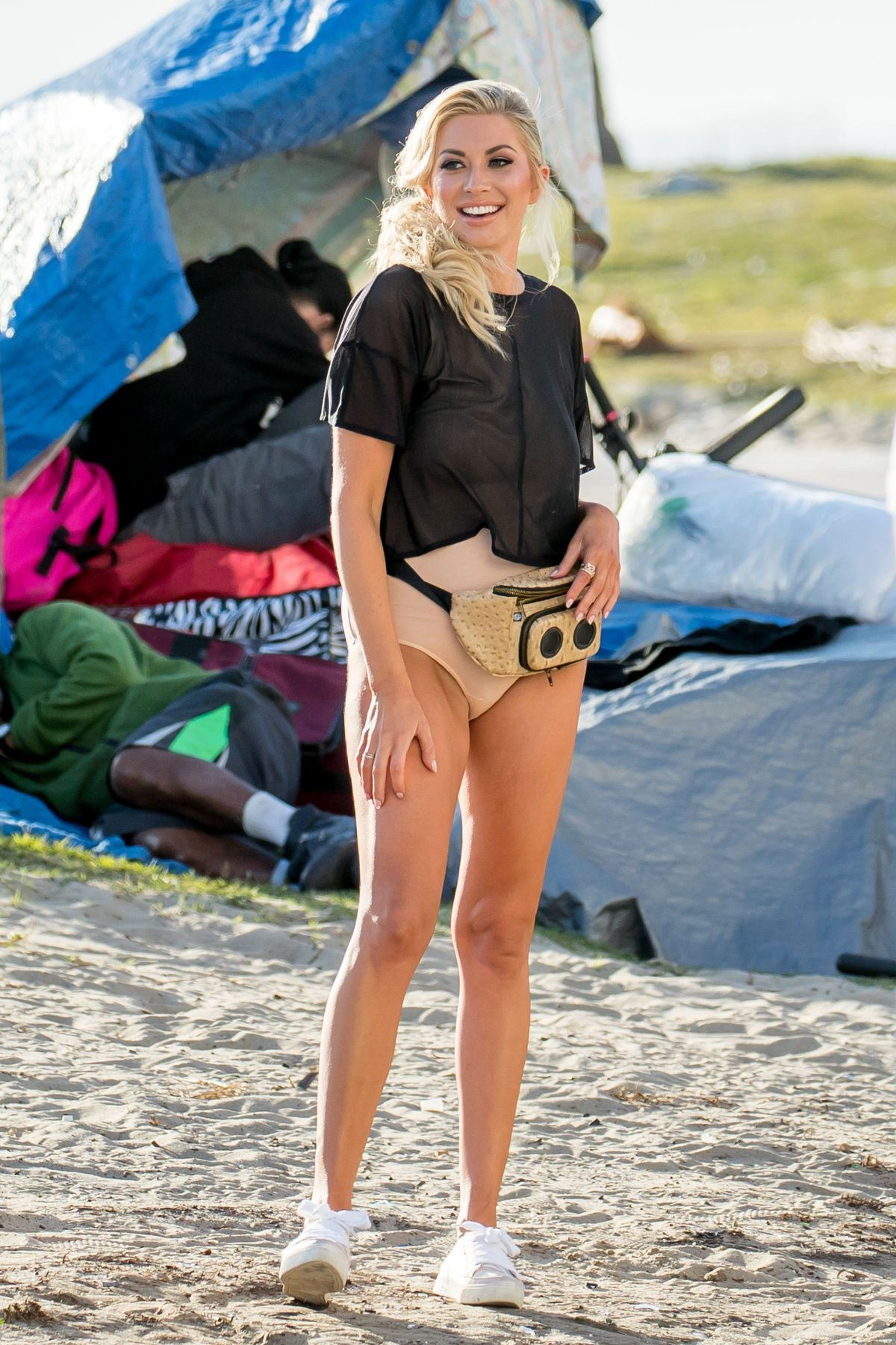 Stassi Schroeder On the Set of a Photoshoot in Venice Beach