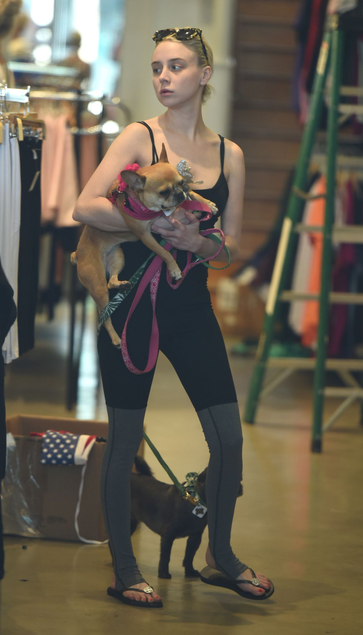 Alessandra Torresani Spotted out walking her dogs in Los Angeles