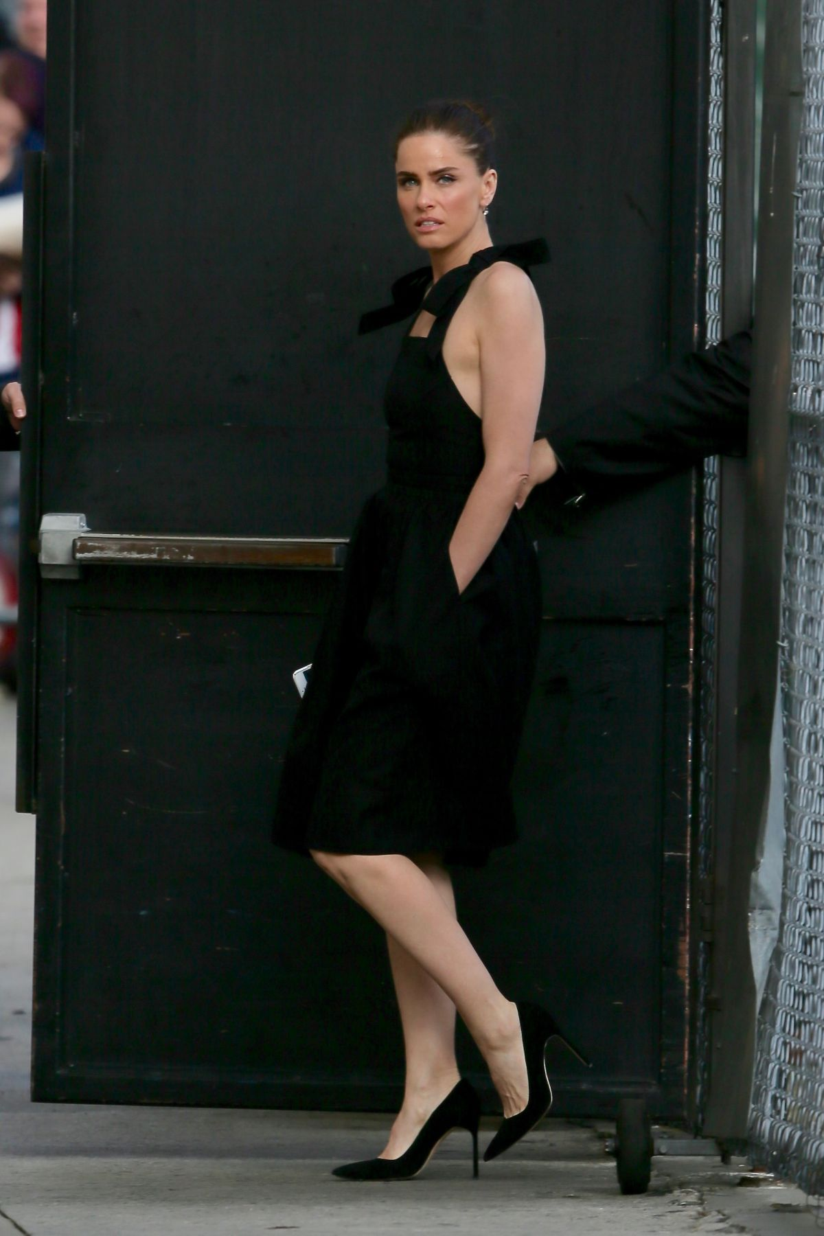 Amanda Peet Visits 'Jimmy Kimmel Live' in Los Angeles ...