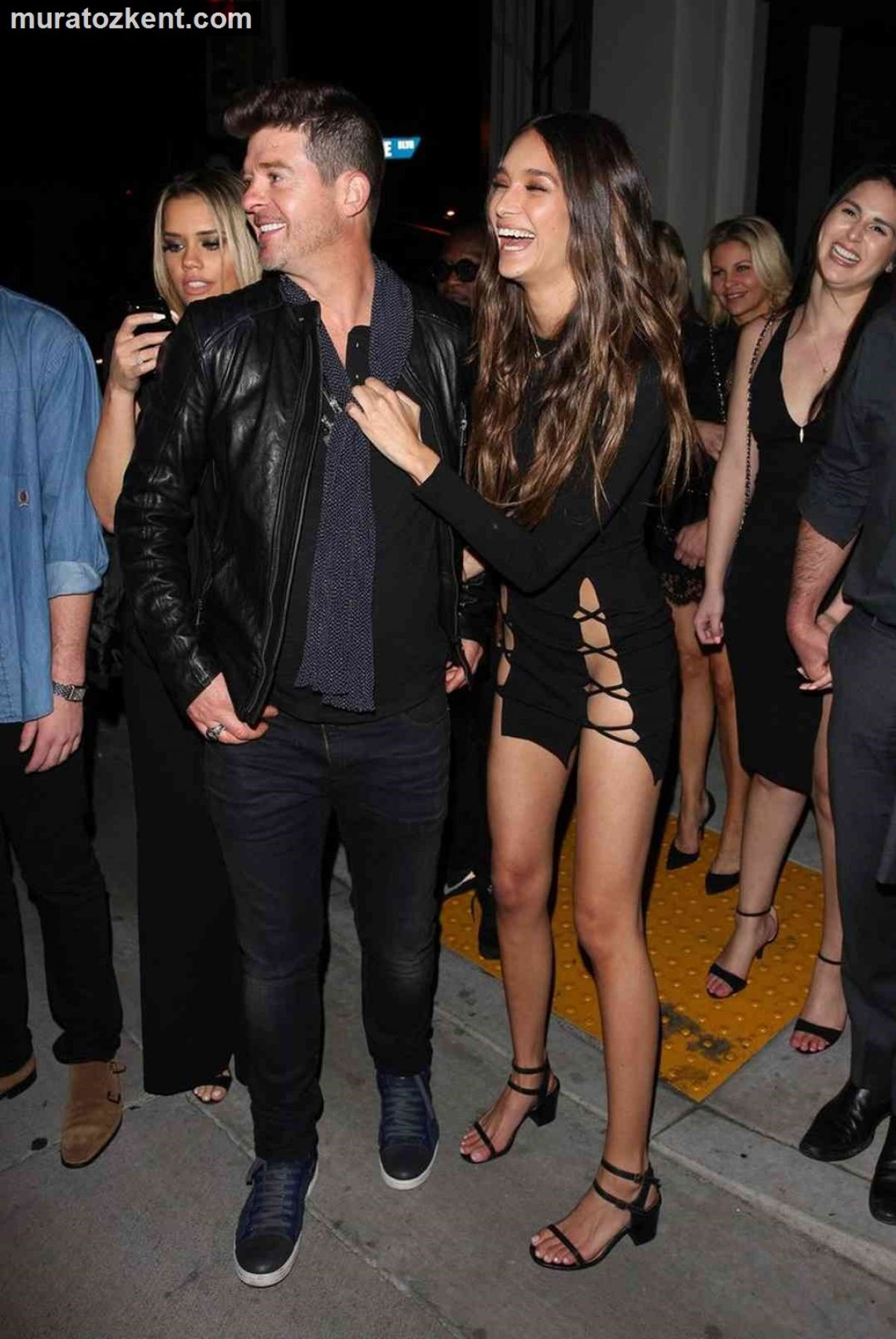 April Love Pro Makeup Academy: April Love Geary At Robin Thicke's 40th Birthday Party