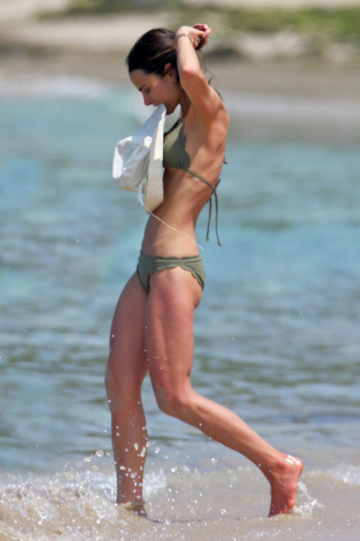 Jordana Brewster In a bikini on a beach during a vacation ... Katie Holmes And Jamie Foxx