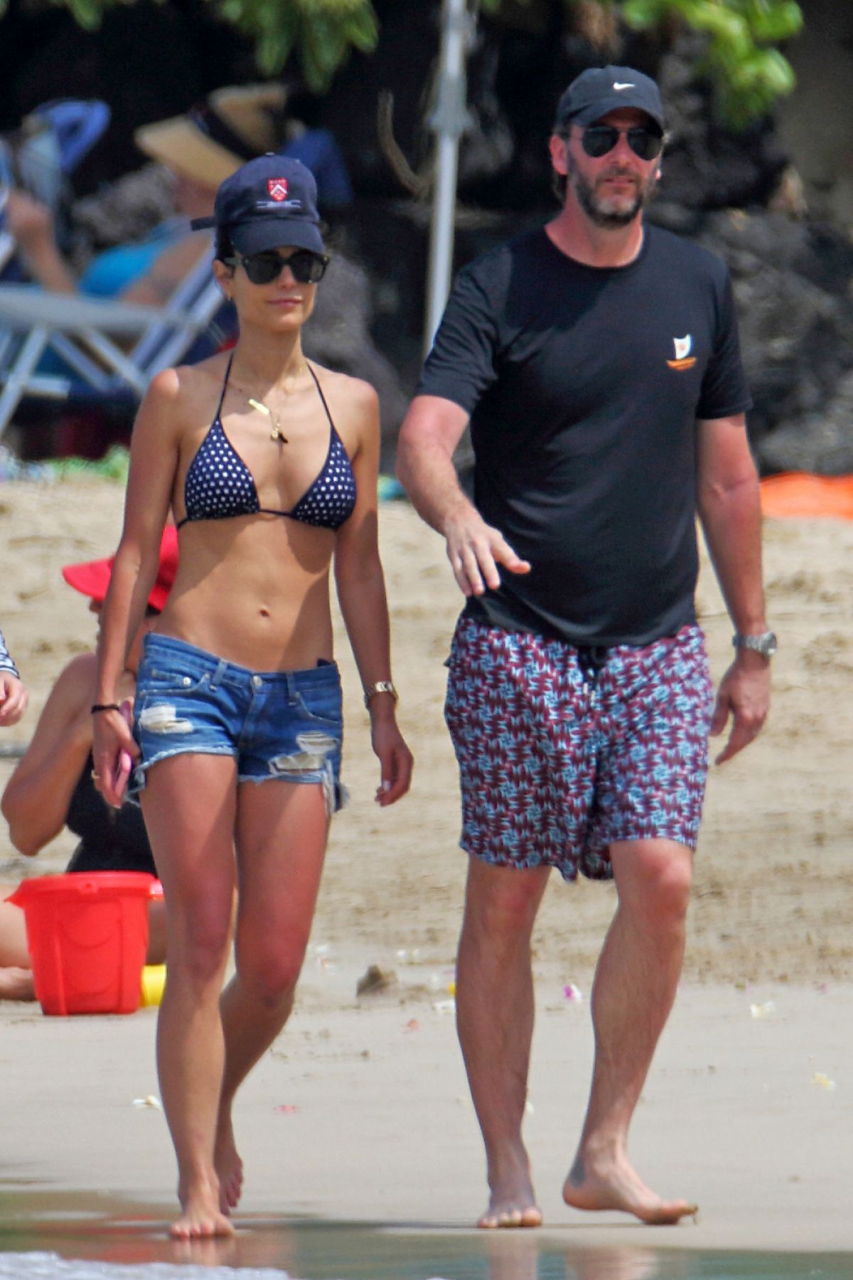Jordana Brewster Wearing a polka dot bikini on vacation in Hawaii