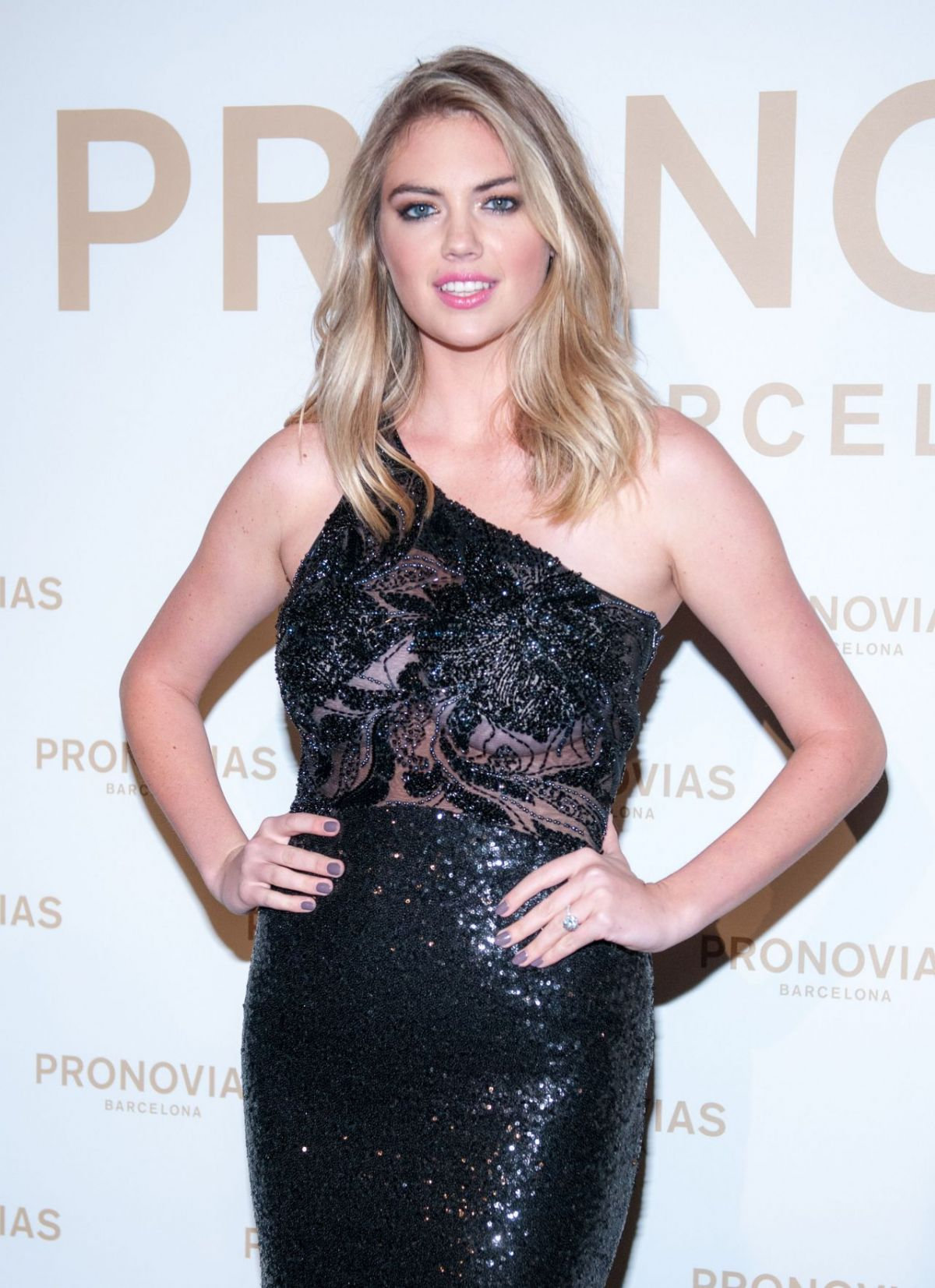 Kate Upton At Barcelona Photocall at the Pronovias Catwalk Show