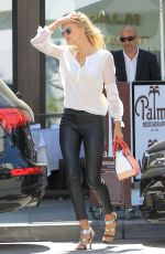 Kelly Rohrbach At Palm Restaurant in Beverly Hills