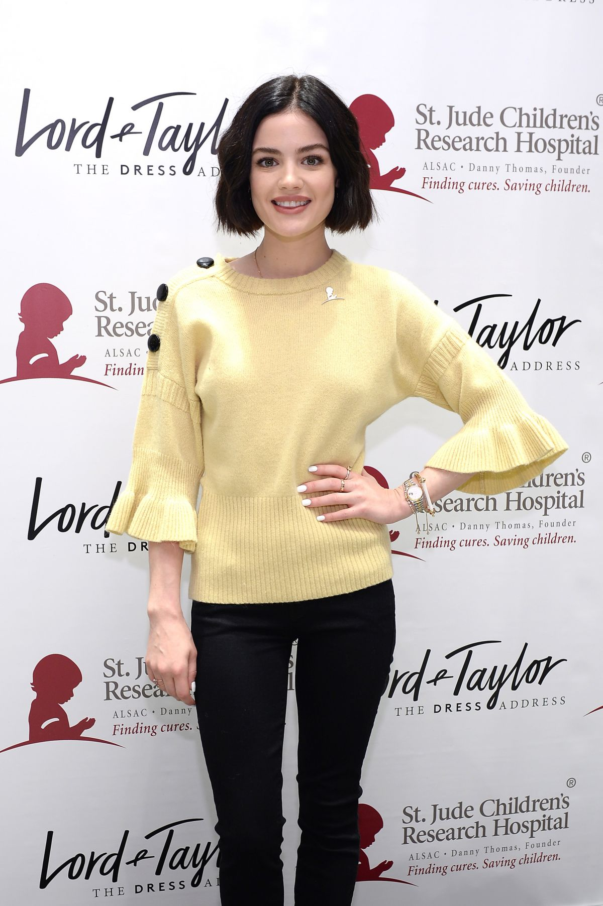 Lucy Hale At lord & taylor celebrates charity days: let