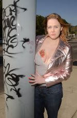 Maitland Ward On the set of an April Fools photoshoot in Los Angeles