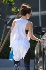 Minka Kelly Working out at a gym in West Hollywood