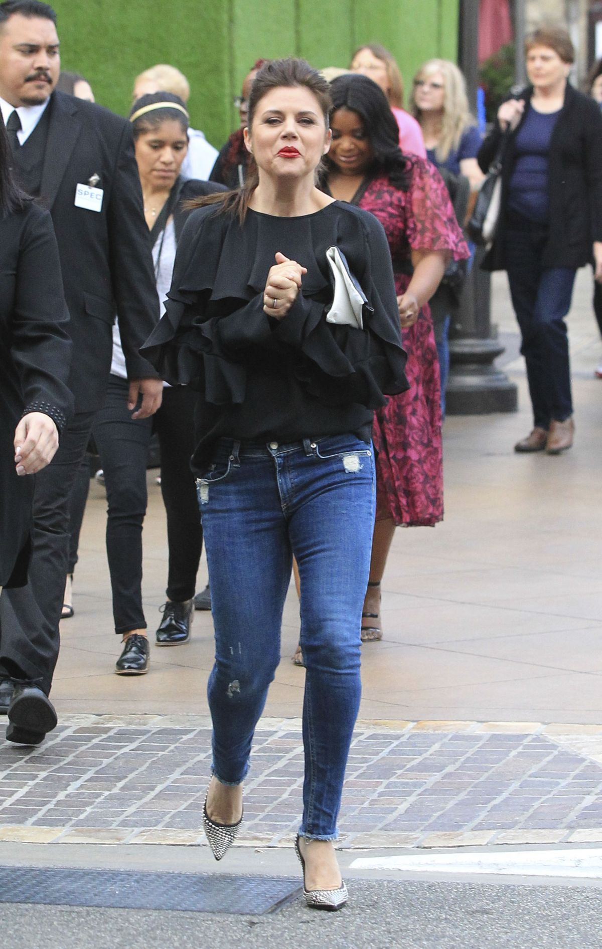 Tiffani thiessen at the grove in la