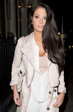 Tulisa Contostavlos Leaves Arts Club in London