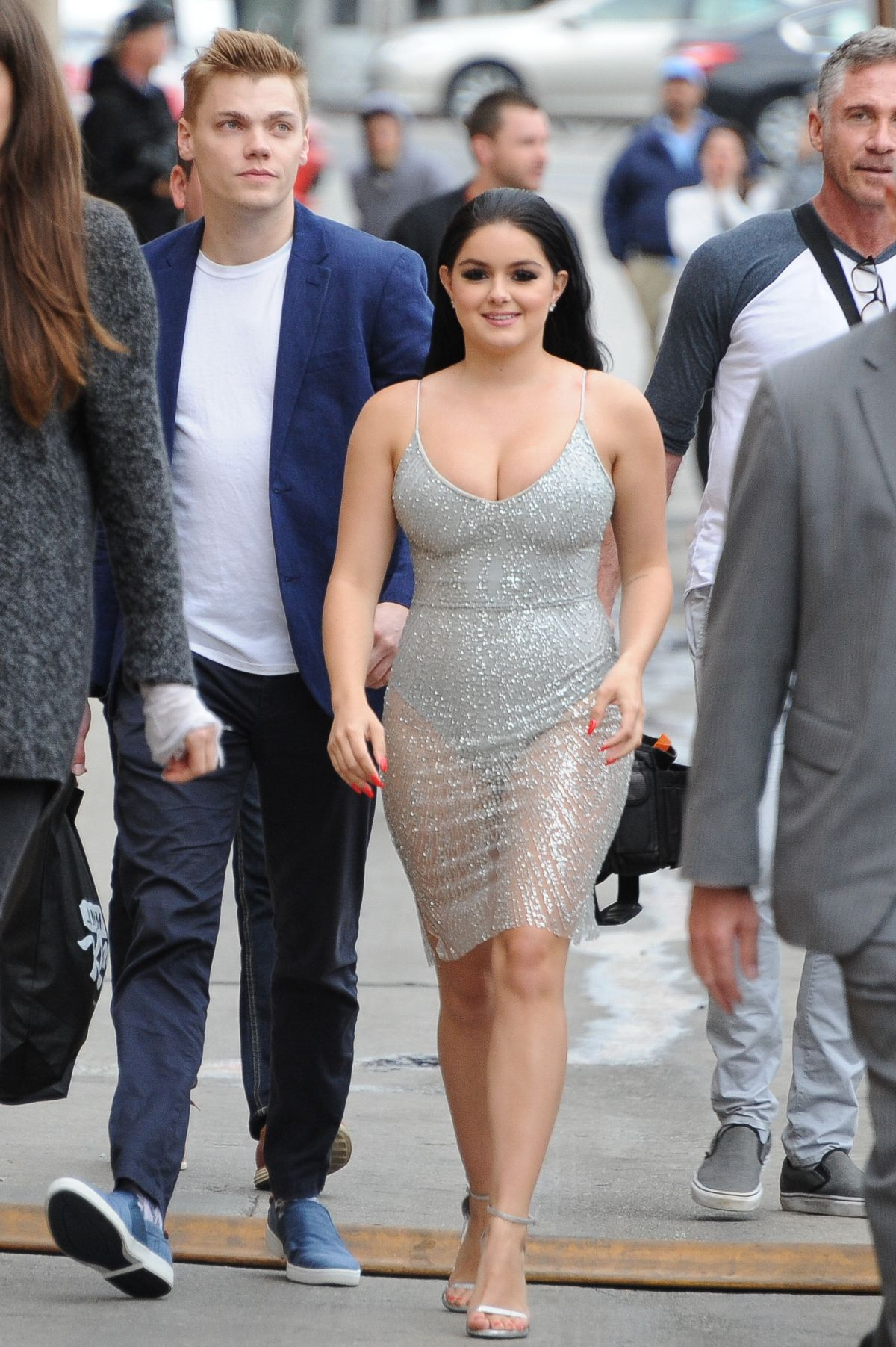 Ariel winter arriving to appear on jimmy kimmel show in los angeles