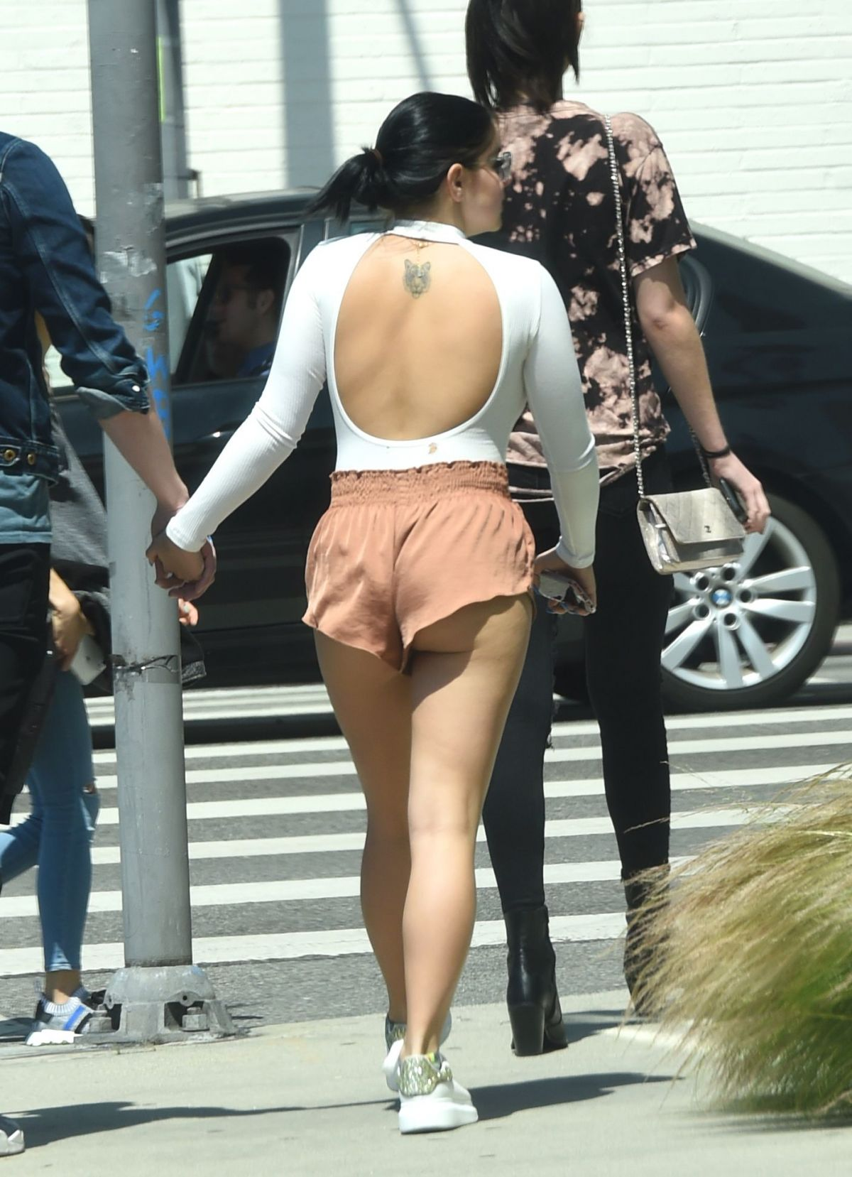 ariel winter spotted in cheeky shorts again, out for a stroll in