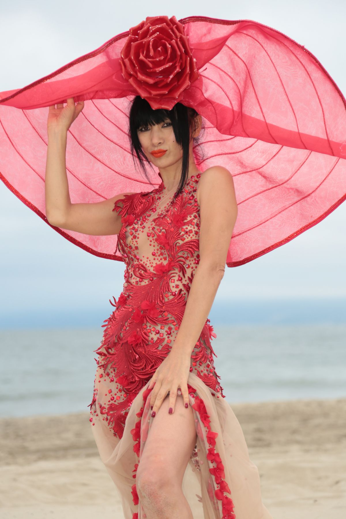 Bai Ling Poses for photoshoot in Marina Del Rey