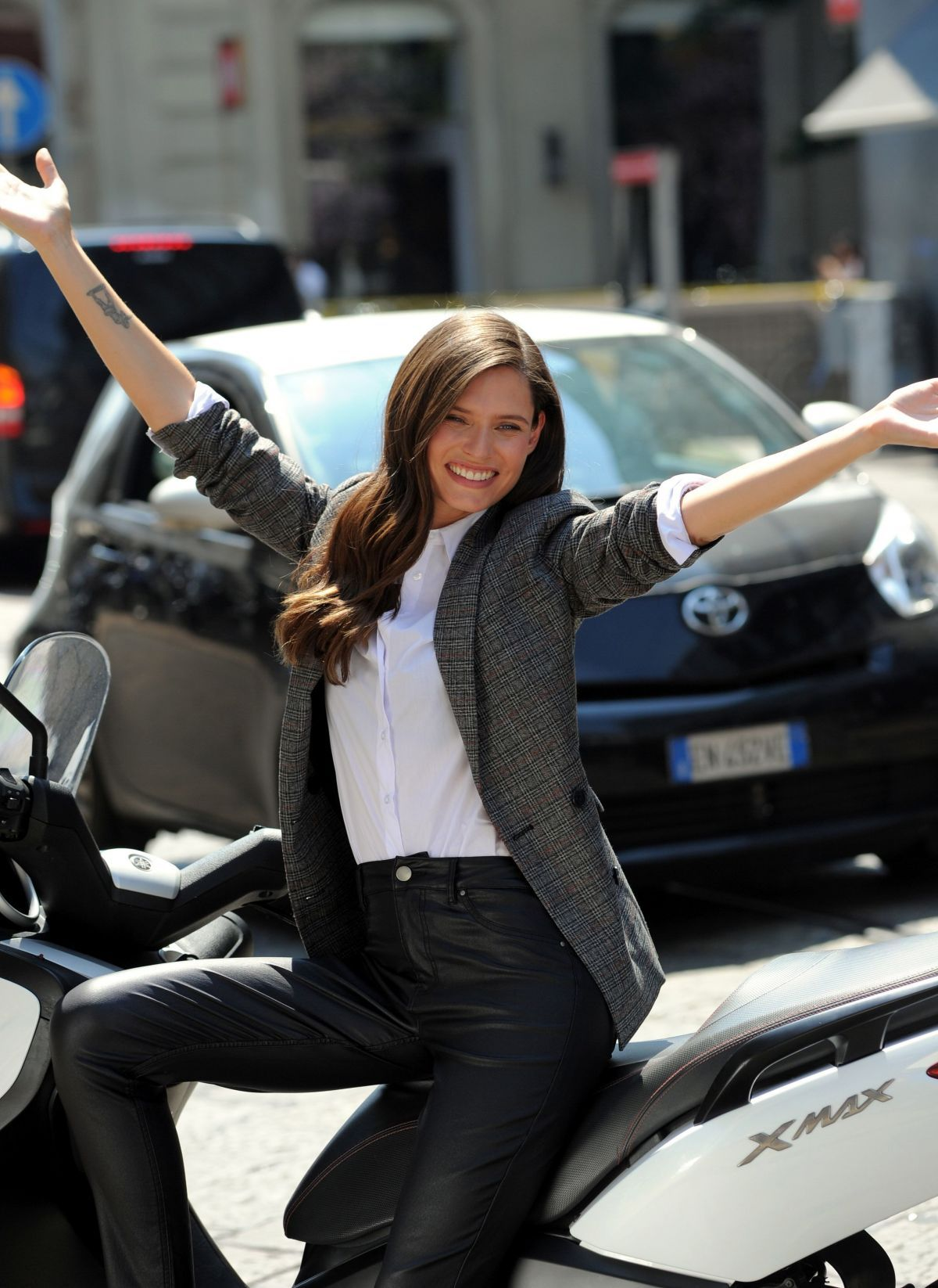 6792bc6c4c6a Bianca Balti On the set of a OVS Commercial in Milan - Celebzz