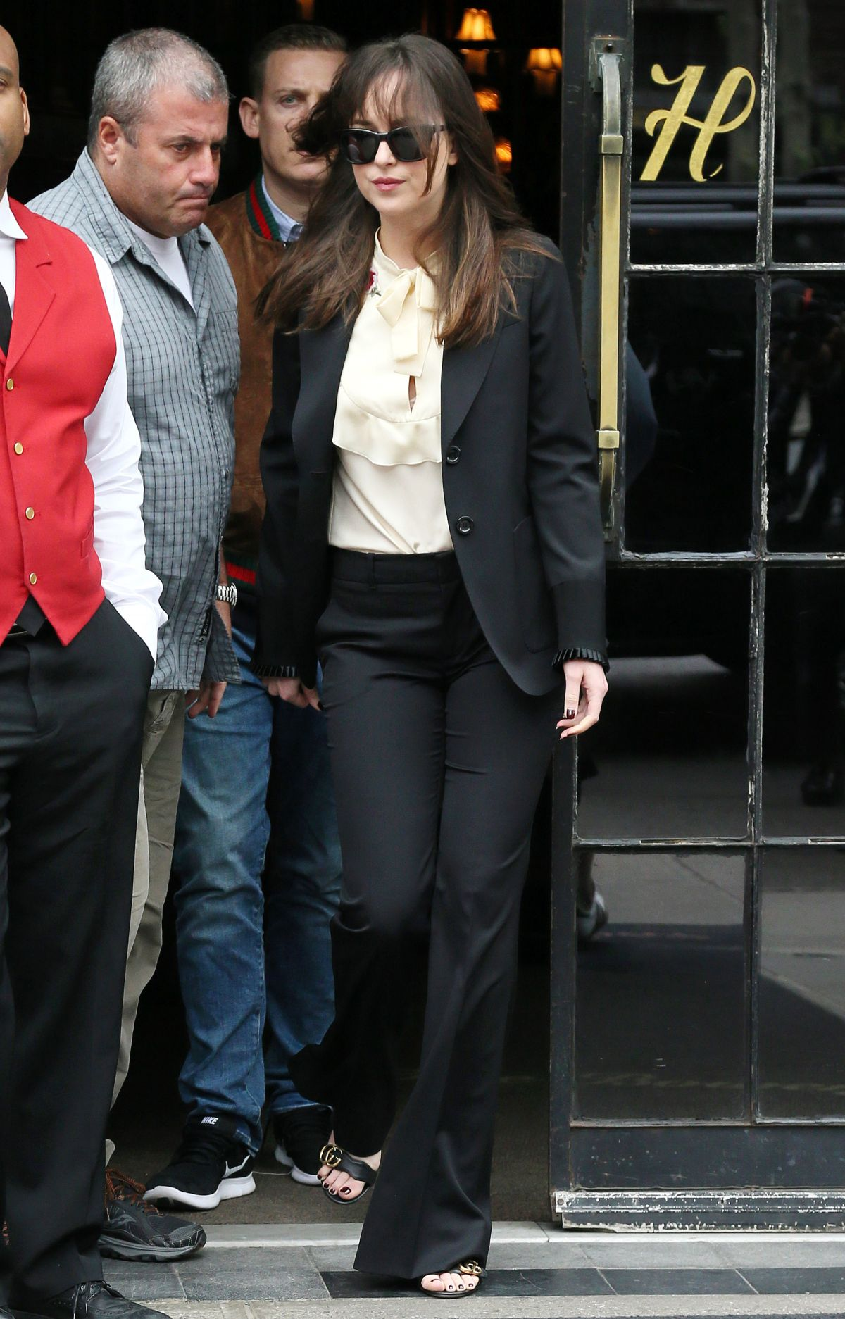 Dakota johnson leaving the bowery hotel in nyc new pictures