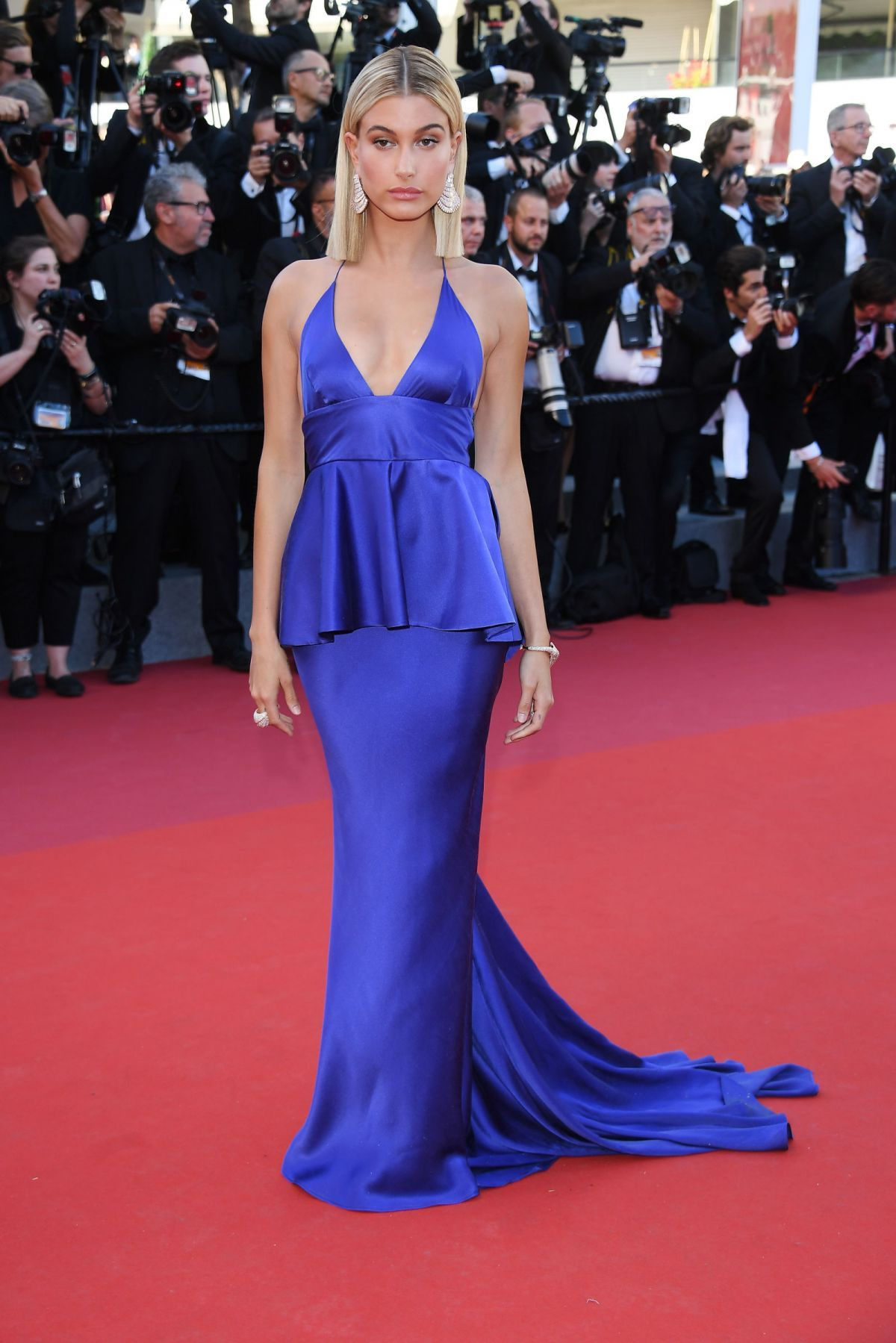 Hailey Baldwin At Opening Ceremony Of 70th Cannes Film