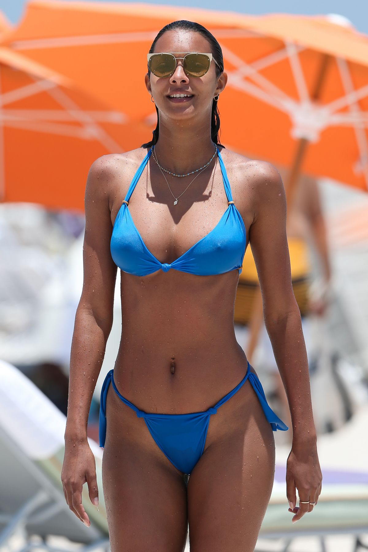 Lais Ribeiro Wears a tiny bikini on the beach in Miami