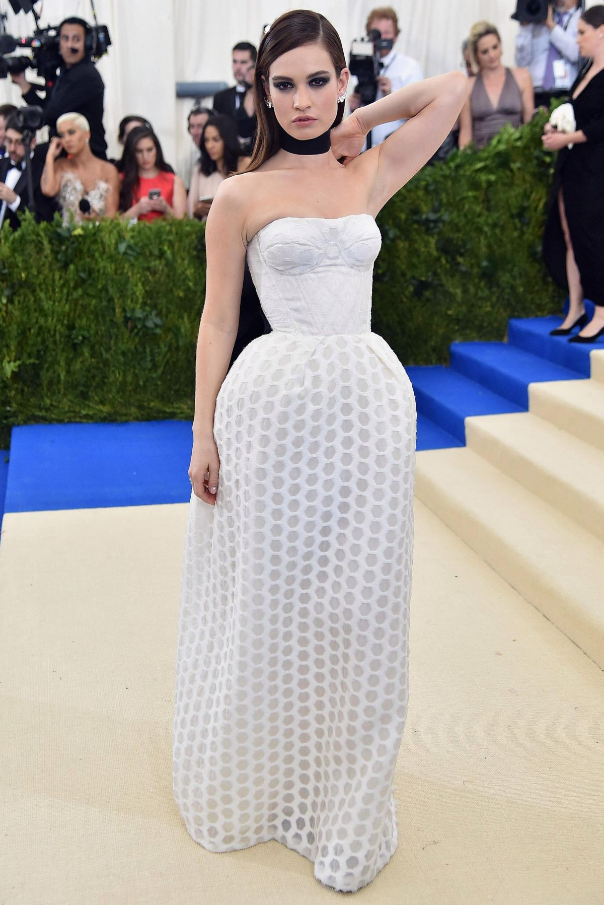 Image result for Lily James met gala