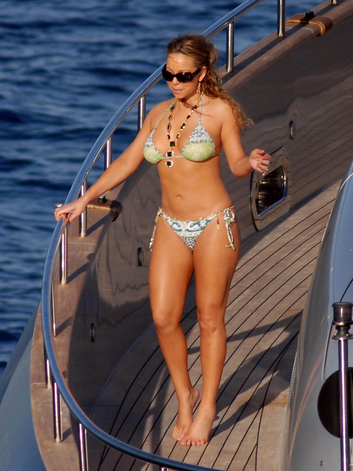 Mariah Carey In Bikini in Capri