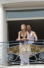 Vanessa Axente At Martinez Hotel Balcony in Cannes